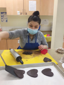 Person making cookies