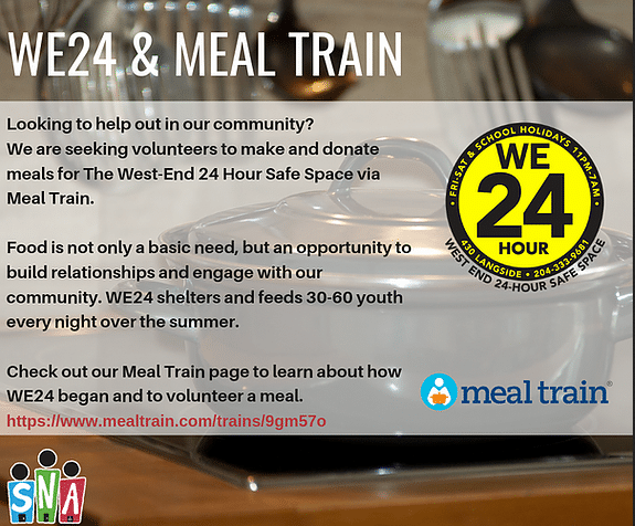 a promotion for the meal train
